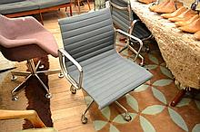 CHARLES AND RAY EAMES PAIR OF MODEL EA 335 GROUP CHAIRS FOR HERMAN MILLER