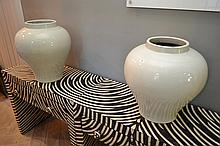A PAIR OF 19TH CENTURY CHINESE BLANC DE CHINE VASES