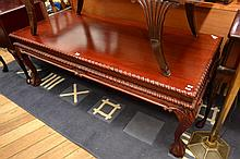 A CHIPPENDALE STYLE COFFEE TABLE