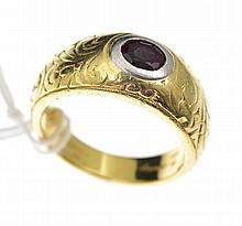 A RUBY RING BY MICHAEL BEAUDRY IN 18CT GOLD