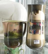 TWO ROYAL DOULTON PIECES; VASE AND JUG