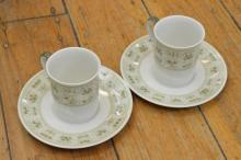 COLLECTION OF DEMITASSE CUPS AND SAUCERS, INCL. ROYAL DOULTON
