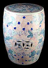 Chinese Glazed Porcelain Garden Seat