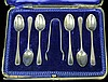 Antique Sterling Silver Demitasse Spoon/Tong Set