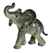 Circa 1960s Goebel Painted Elephant Figurine