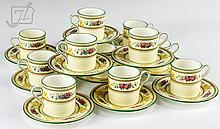 24 Pc Wedgwood Columbia Demitasse Cup & Saucer Lot