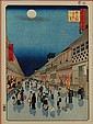 Old Hiroshige Japanese Wood Block Print