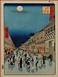 Old Hiroshige Japanese Wood Block Print