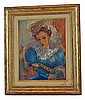 Oil on Board, 20th Century Portrait signed CHILDS