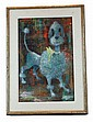 Robert J. Lee (1921 - ) Poodle, Oil on Board