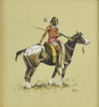 Native American Watercolor/ Gouache On Paper