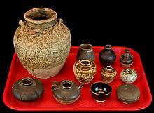 (11) Pcs. Antique Asian Pottery Vessel Lot