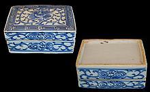 Chinese Blue/White Trinket Box