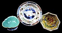 3 Pcs. Asian Export Footed Bowls