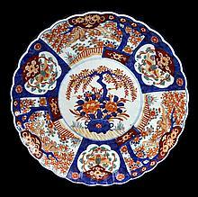 Large Asian Export Imari Porcelain Charger