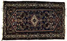 Deep Blue and Brown Oriental Rug