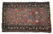 Mauve, Black and Camel Oriental Rug