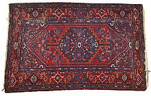 Blue and Burgundy Oriental Rug