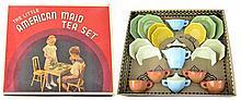 Vintage Akro Agate - Little American Maid Tea Set