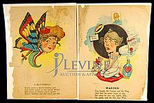 PAIR Penny Dreadful Vintage Cartoon Sentiments