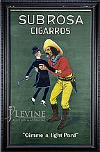 Framed Vintage Sub Rosa Cigarros Poster