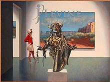 Steven DeLair Oil on Canvas, Museum Scene