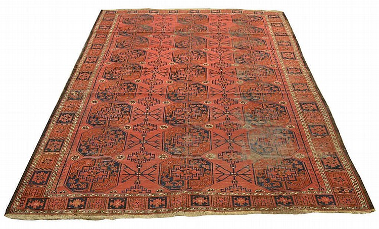 Multi Gul Turkomon Persian rug, approx. 91
