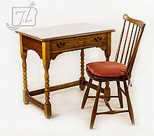 1953 L & JG Stickley Cherry Writing Desk & Chair