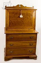 1953 L & JG Stickley Cherry Wood Drop Front Desk
