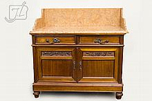 French Carved Floral & Marble Top Wash Stand