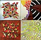 C3 Studios INC. 4 Art Glass Tiles / Trivets