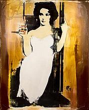 Dan McCarthy (1962-) Elizabeth Taylor Silkscreen