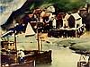 John Whorf (1903-1959) Harbor Watercolor, John Whorf, $750