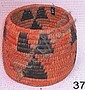 Tohono O'dham Coiled Vessel w/ Triangular Design