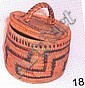Tohono O'dham Coiled Lidded Basket