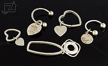 5 Pc. Tiffany & Co. Sterling Silver Key Chain Lot