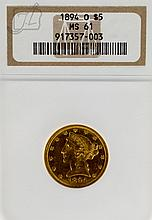 1894 US O $5 Liberty Head Gold Coin NGC-MS61