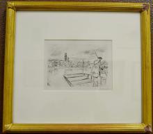 James Abbott McNeil Whistler Signed Boat Pilot Etching