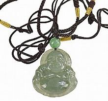 Jadeite Pendants: Laughing Buddha, Fruit, Rabbit