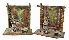 Antique Austrian Vienna Rug Merchant Bookends