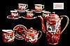 Japanese Red Dragonware Tea Set