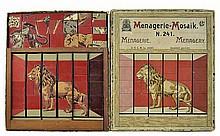 Antique Wooden Puzzle, Menagerie-Mosaik #241, Lion
