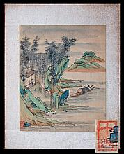 (5) Antique Chinese Hand-Painted Silk Scenes