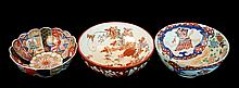 (3) Pcs. Antique Japanese Porcelain Bowl Lot