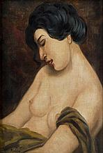 Moïse Kisling (1891-1953) ?Buste? Oil on Canvas