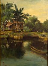 20th C. Signed Tam Philippines Landscape
