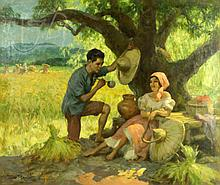 Fernando Amorsolo (1892-1972) Under The Mango Tree