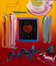 Peter Max (1937-) Oil Painting