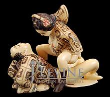 Japanese Erotic Ivory Carving #4