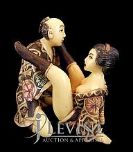 Japanese Erotic Ivory Carving #3